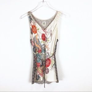 Anthropologie Tiny 100% silk top size L